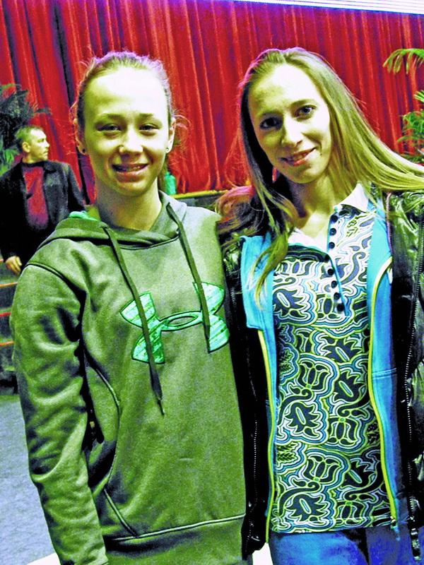 Діана Варінська (ліворуч) та Юлія Каюкова сподіваються, що румунський поміст стане для них щасливим.