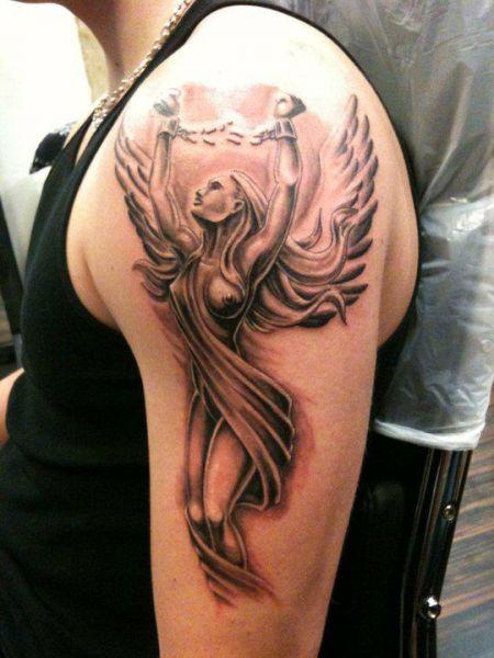 Sexy angel arm tattoo blog z tatua ami for Sexy angel tattoo