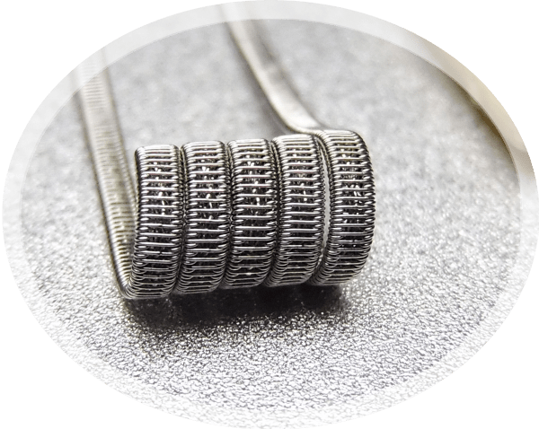 Twisted core staple staggered fused Handmade vape coil