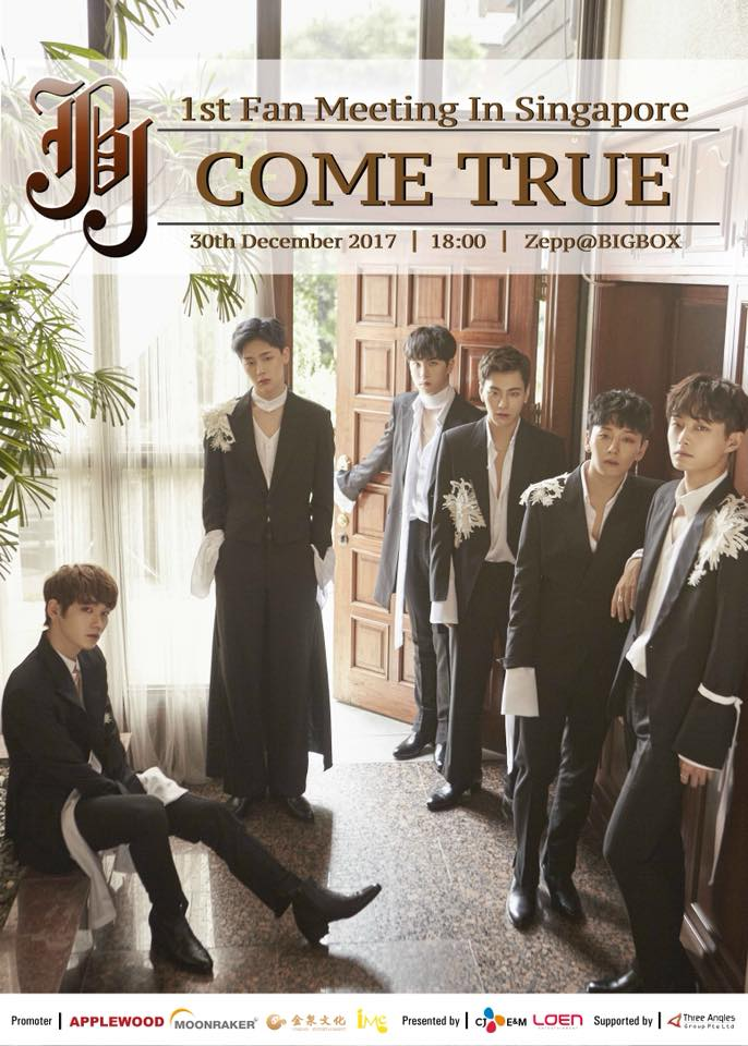 JBJ to Hold Their 1st Asia Fan Meeting 'Come True' Tour in Singapore
