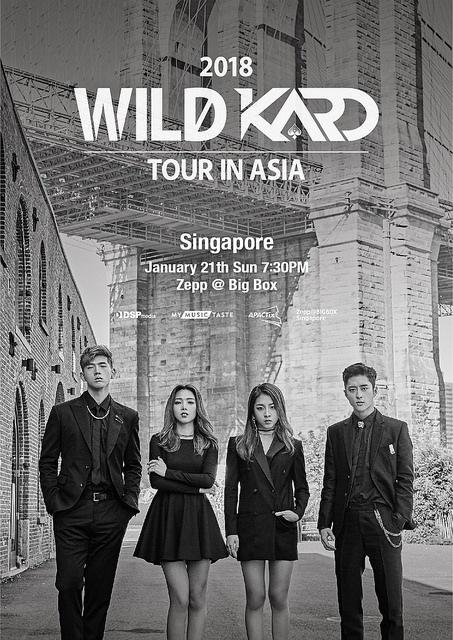 KARD to Bring their 2018 WILD KARD Tour to Singapore this January