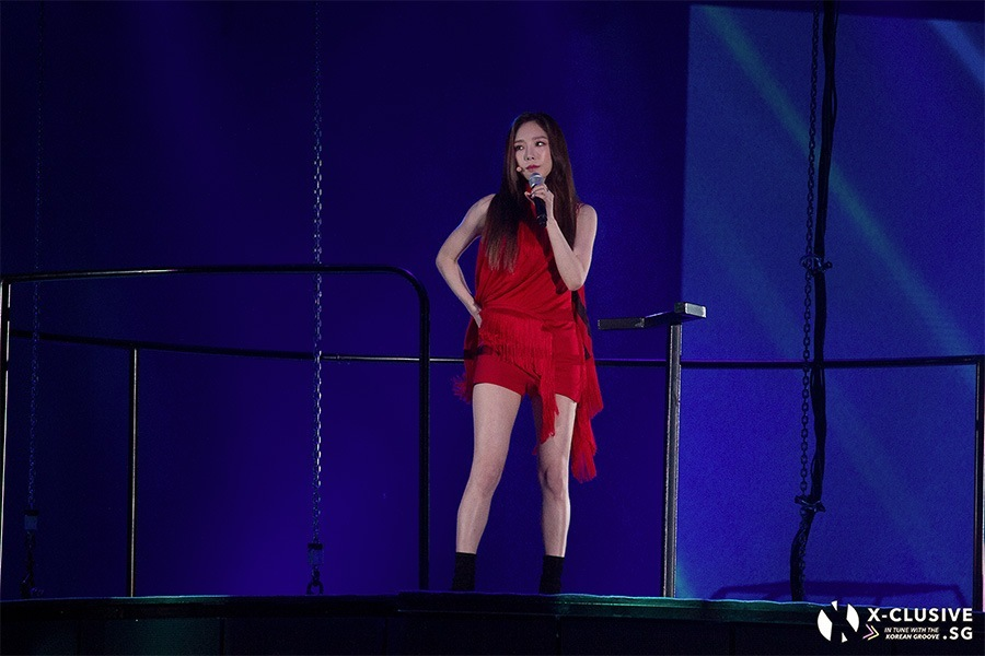 (x)clusive!: Taeyeon finds Gravity at final 's… Concert in Singapore