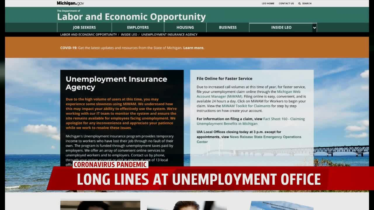 Thousands for unemployment benefits after coronavirus-related layoffs