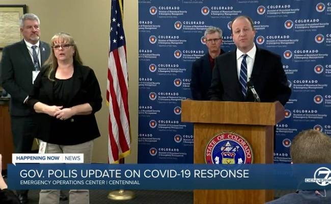 Gov Jared Polis Issues Statewide Stay At Home Order In
