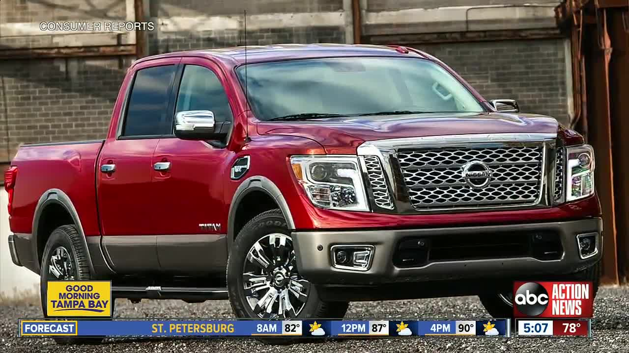 hight resolution of nissan is recalling more than 91 000 titan pickup trucks due to an electrical short that could cause the engine to stall posing a crash risk