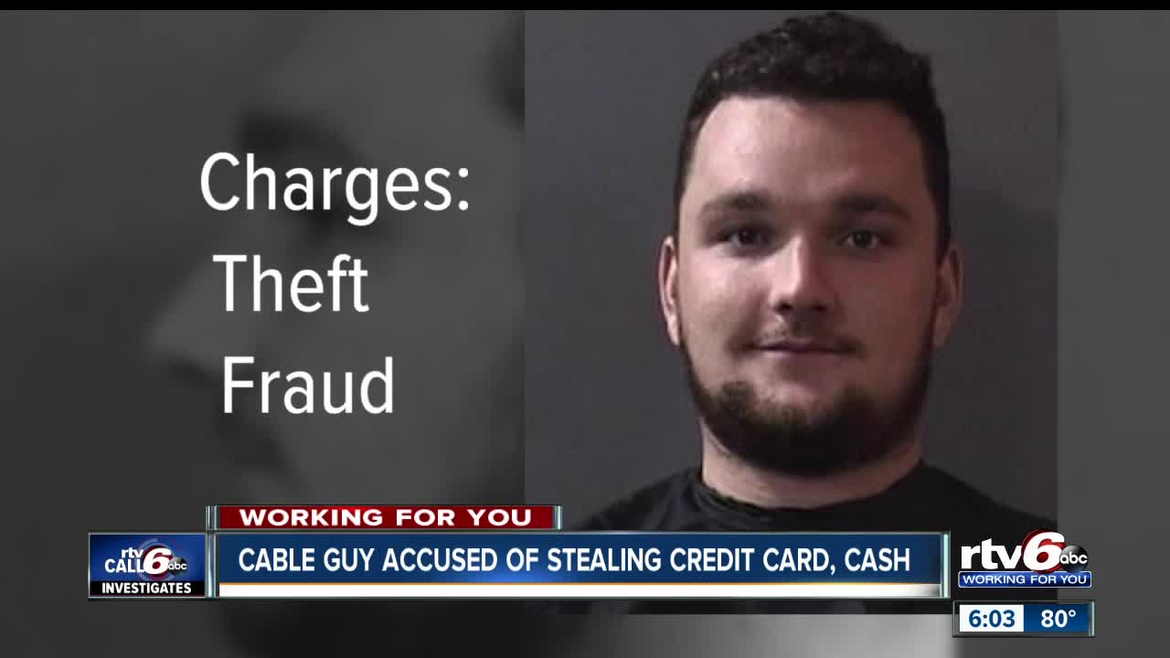cable guy accused of