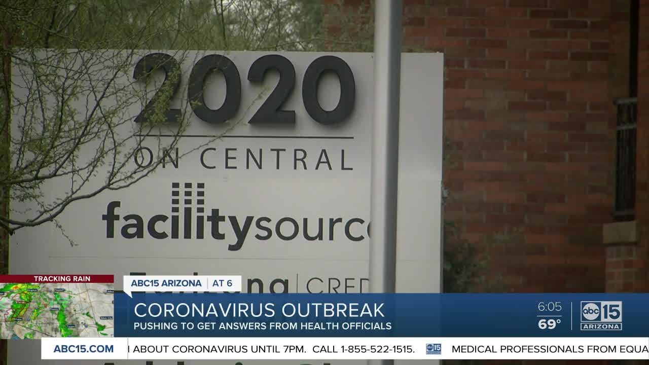 Central Phoenix business closes after employee comes in contact ...