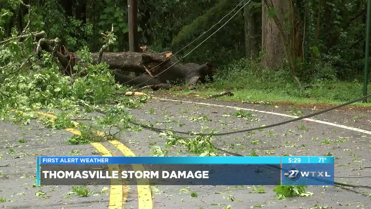 Damage minimal in Thomasville after severe storm