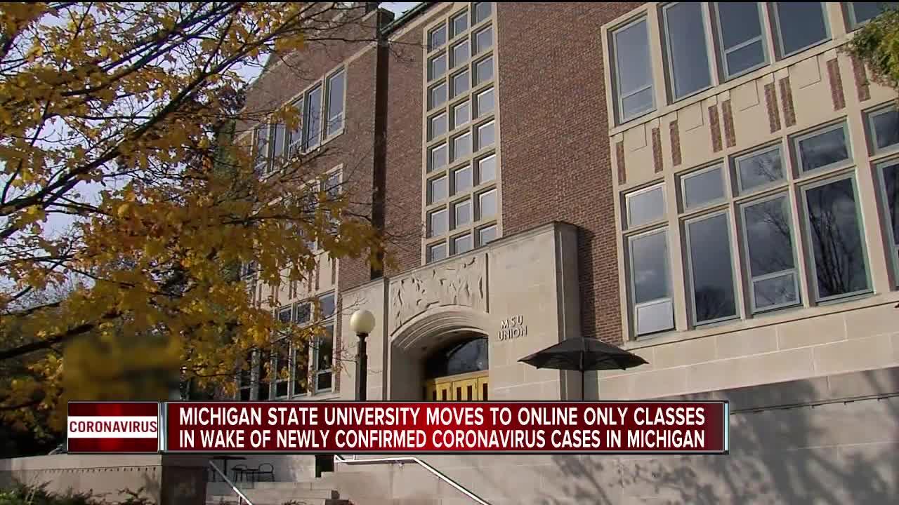 Michigan State University switching to virtual instruction amid ...