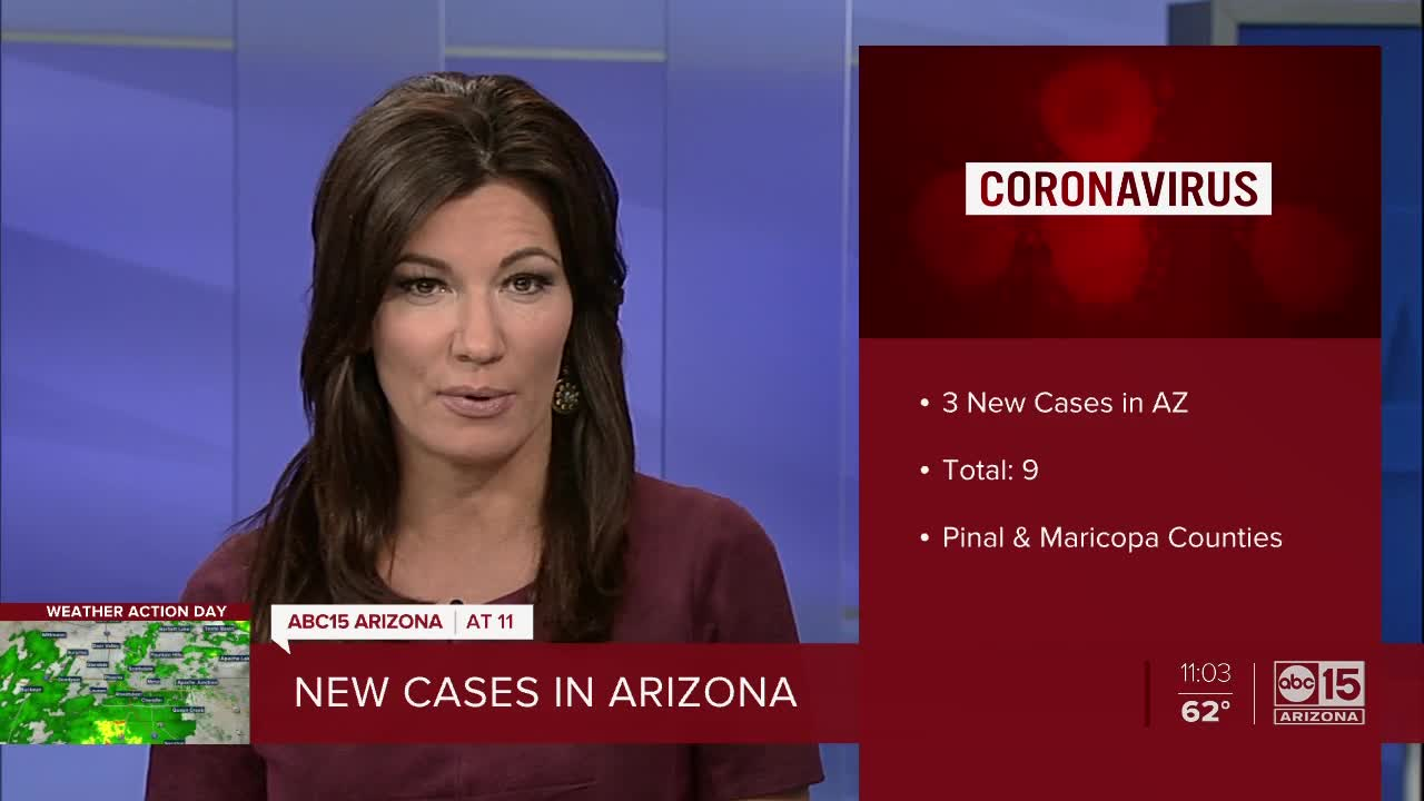 Pinal and Maricopa counties report 3 new coronavirus cases ...