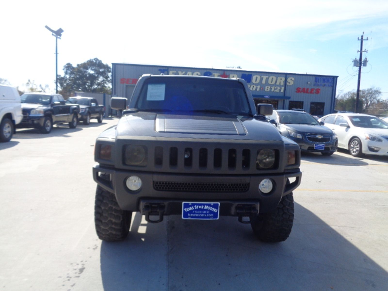 2007 Hummer H3 Blue Cars Wallpaper Free