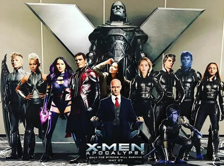 promotional standee provides new look at the cast of x men