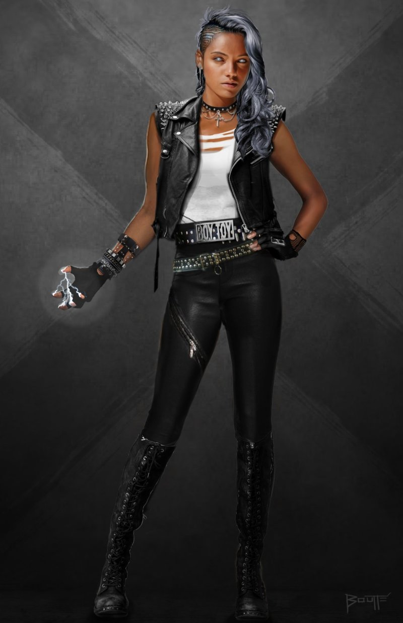Storm Concept Artwork Shows Off The Character S 80 S Punk Rock Look