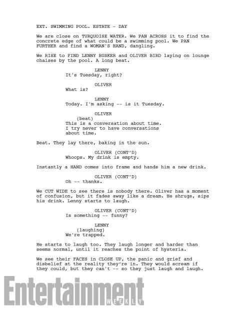 LEGION Season 2 Script page