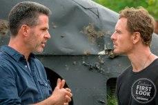 X-Men: Dark Phoenix Director Simon Kinberg and Michael Fassbender on set
