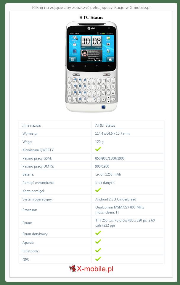 HTC Status Galeria telefonu :: X-mobile.pl (AT&T Status