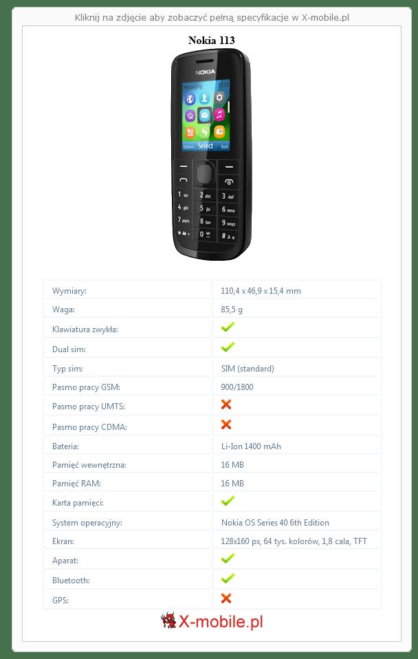 Nokia 113 Galeria telefonu :: X-mobile.pl (Nokia OS)