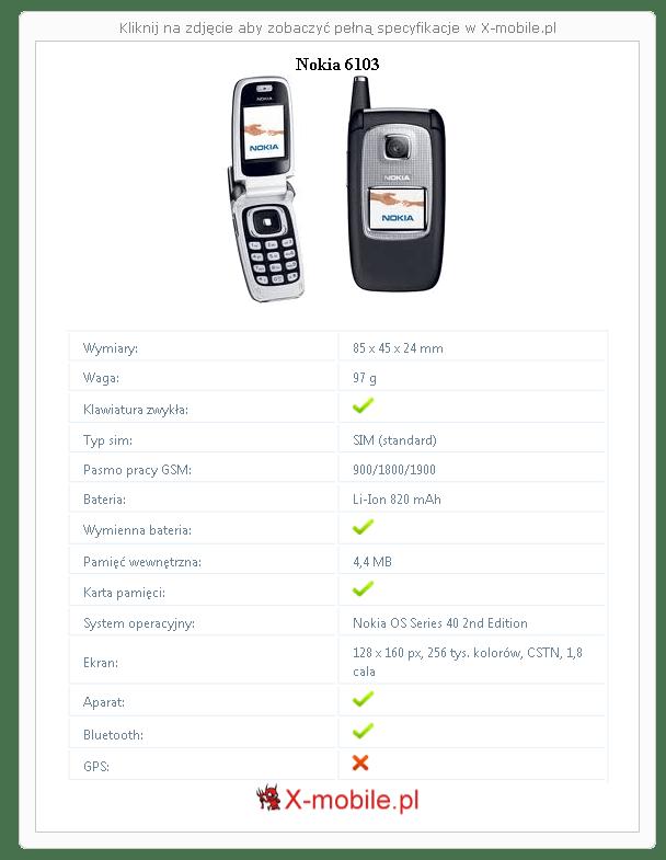 Nokia 6103 Galeria telefonu :: X-mobile.pl (Nokia OS
