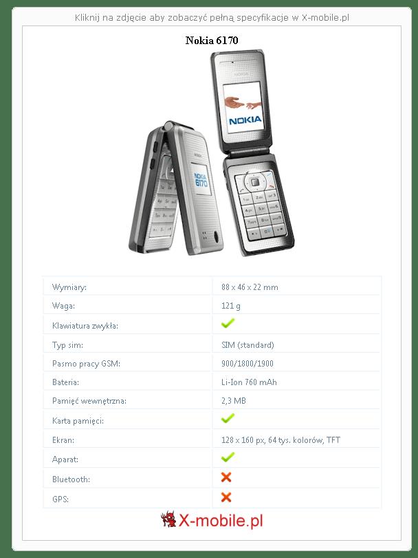 Nokia 6170 Galeria telefonu :: X-mobile.pl