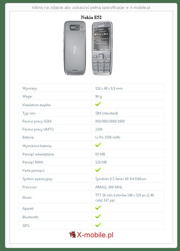 Nokia E52 Galeria telefonu :: X-mobile.pl (Symbian 9.3)
