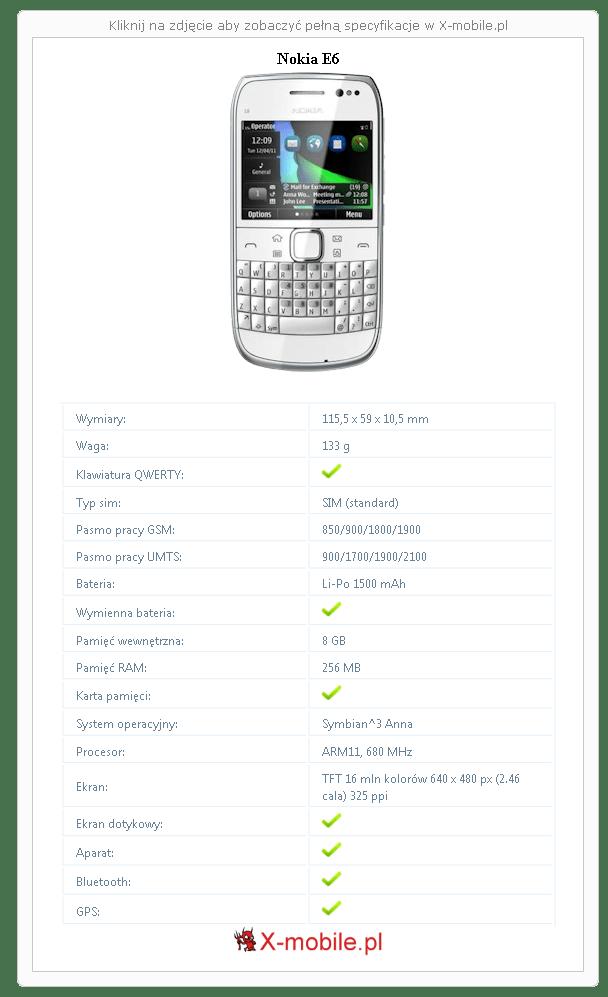 Nokia E6 Galeria telefonu :: X-mobile.pl (Telefon z