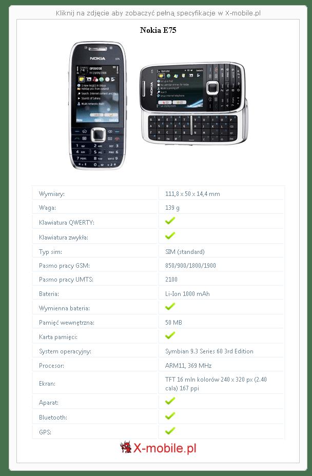 Nokia E75 Galeria telefonu :: X-mobile.pl (Telefon z