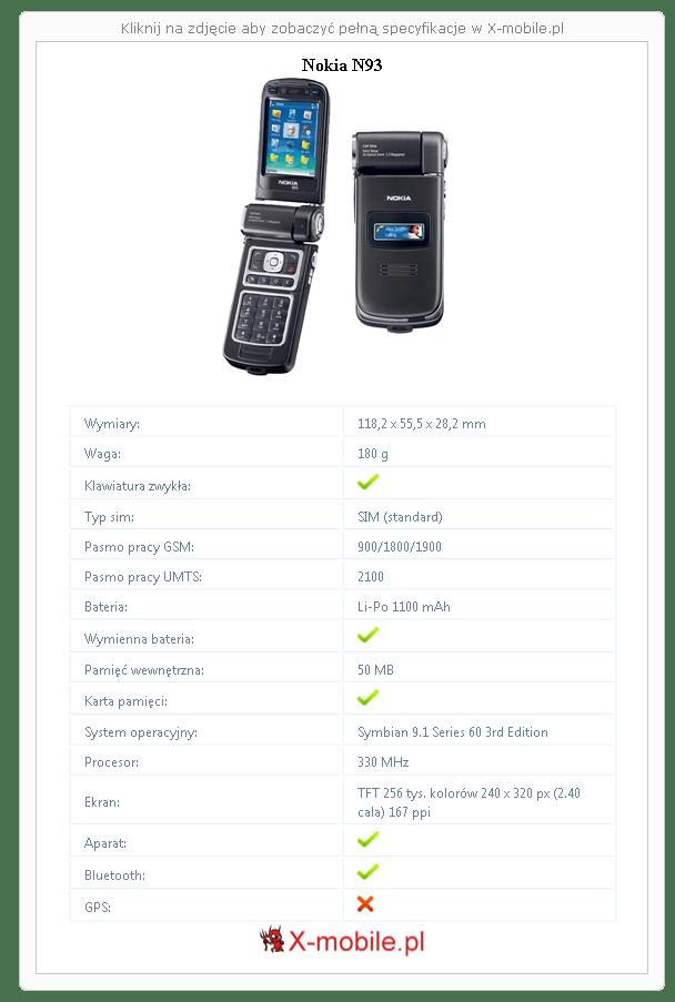 Nokia N93 Galeria telefonu :: X-mobile.pl (Symbian 9.1