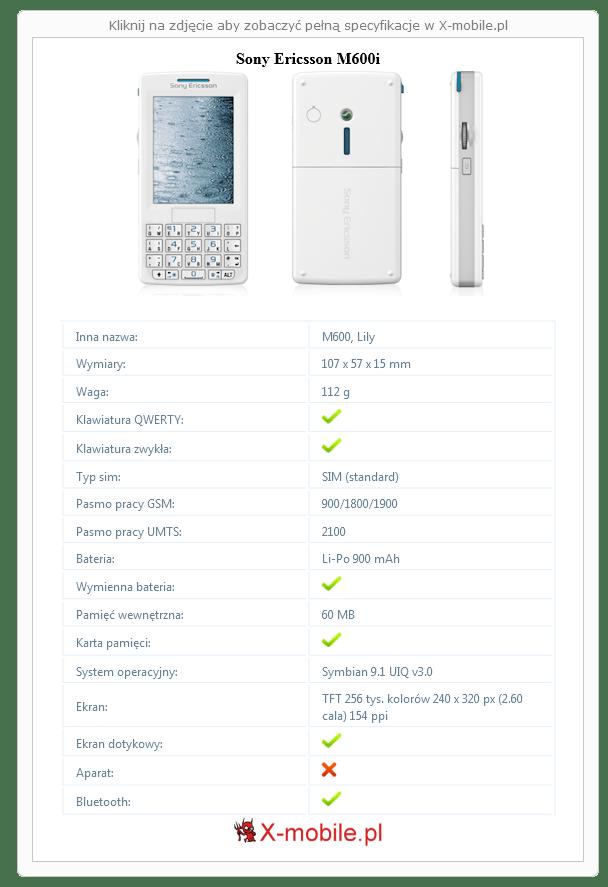 Sony Ericsson M600i Galeria telefonu :: X-mobile.pl (M600