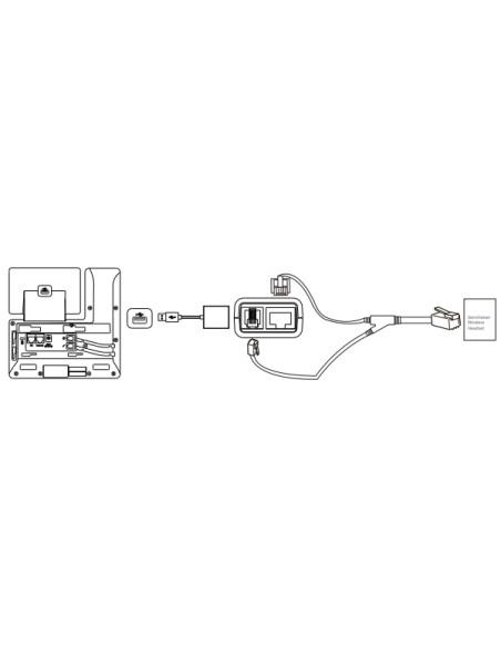 YEALINK YEALINK EHS40 Adaptador Auriculares Compatible 24