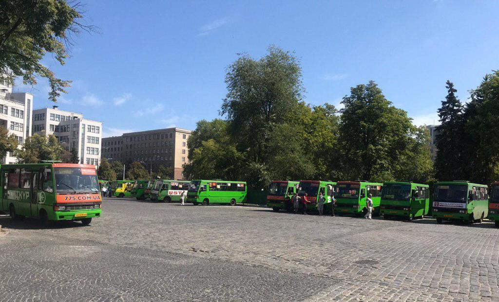У центрі Харкова мітингували перевізники