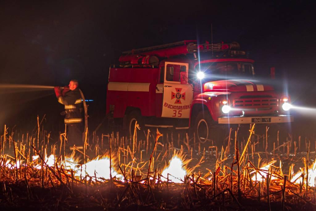 За тиждень рятувальники загасили 102 пожежі на Харківщині