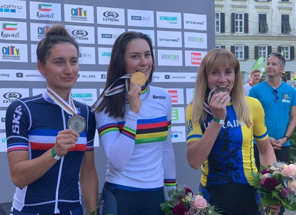 Ірина Попова завоювала бронзову медаль чемпіонату світу з велоспорту маунтінбайк
