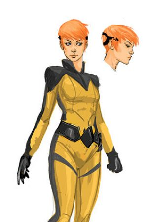 Crystal character study by All-New Inhumans artist Stefano Caselli