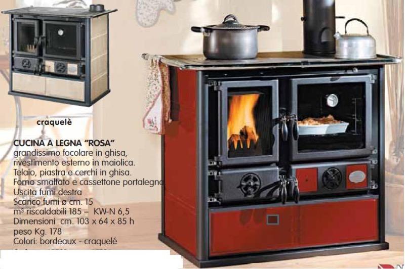 CUCINA A LEGNA ROSA 65 NORDICA  Cucine e Termocucine