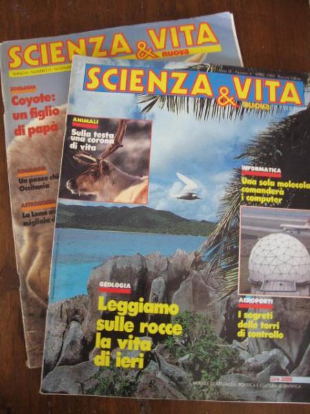 SCIENZA E VITA NUOVA 2 RIVISTE 1984  Libri e Riviste