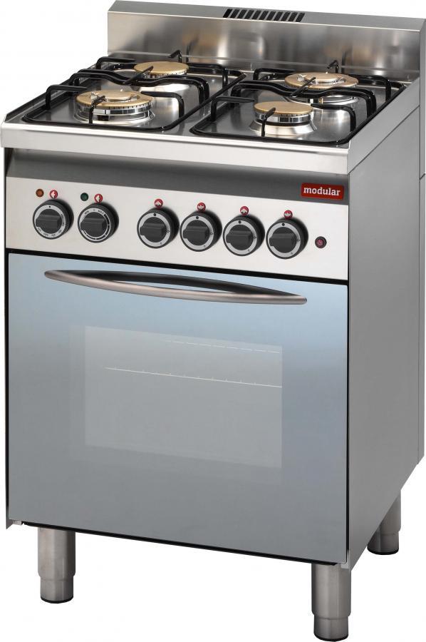 Cucina 4 fuochi a Gas con forno e grill  Zanoni Group