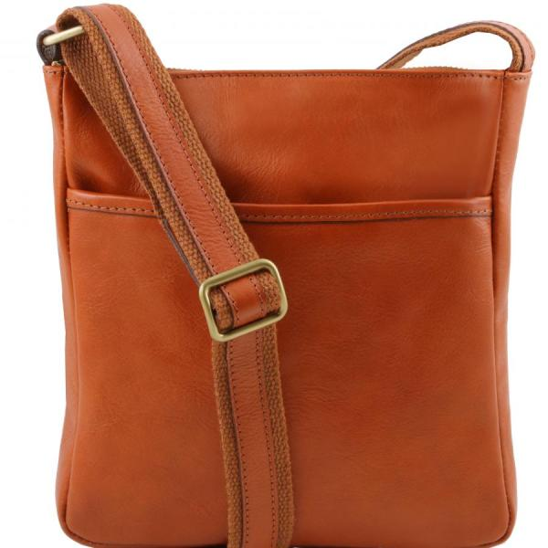 TUSCANY LEATHER crossbody bag for man cotton lining inside ...