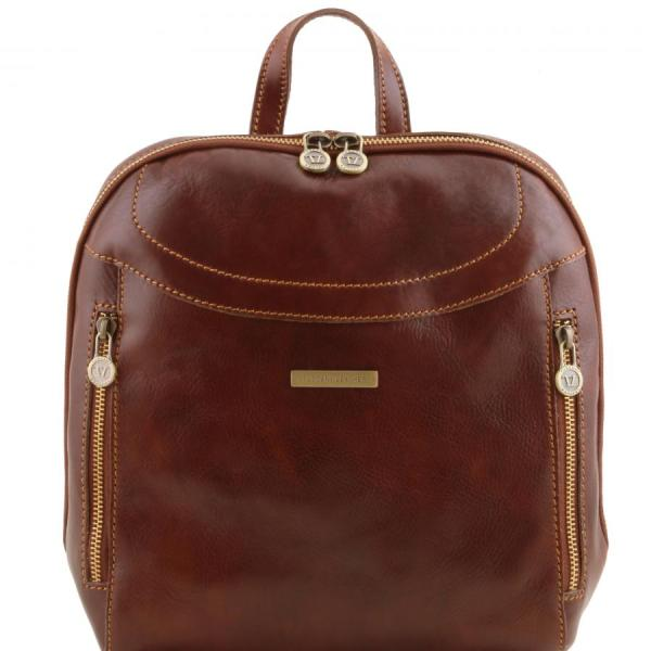 TUSCANY LEATHER backpack semi-rigid structure made in ...