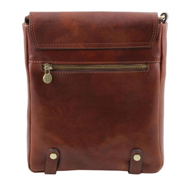 TUSCANY LEATHER shoulder crossbody bag for men with front ...