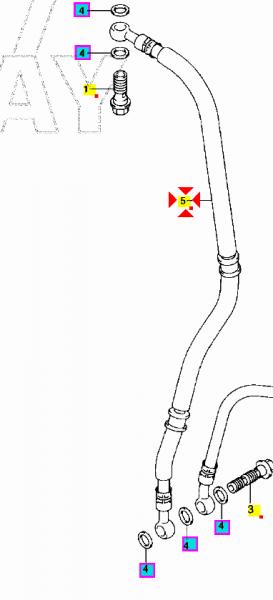 TUBO FLESSIBILE POMPA FRENO ANTERIORE SUZUKI GSX-R 1000