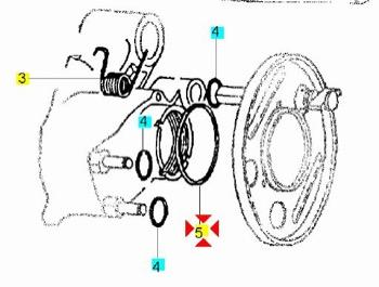\\ Anello OR Parapolevere Mozzo Posteriore Vespa PX PE 125