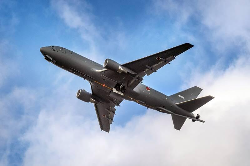 日本KC-46加油機首飛畫面