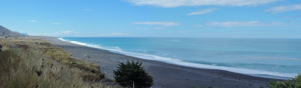 Last picture of the superb coastline in north Canterbury