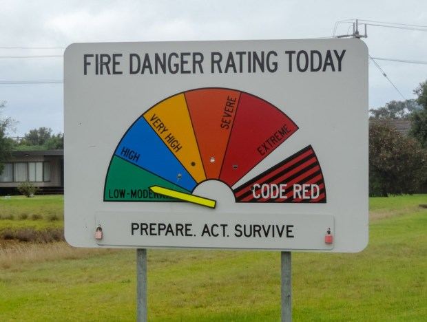 Does the sign need to be on fire to reach code red?