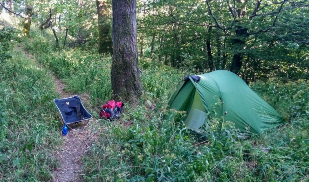 Night camp, not the best of spots but dead quiet.