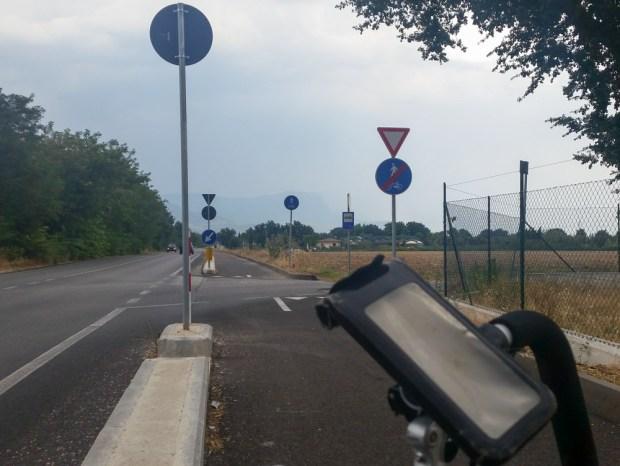 Rare bike path.