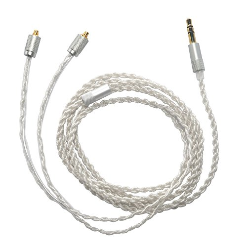 MOKOSE Replacement Upgrade Cable Silver Plated Audio Cord