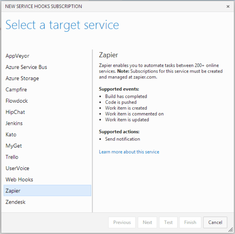Integrate Uservoice with Visual Studio Online using ServiceHooks (1/6)
