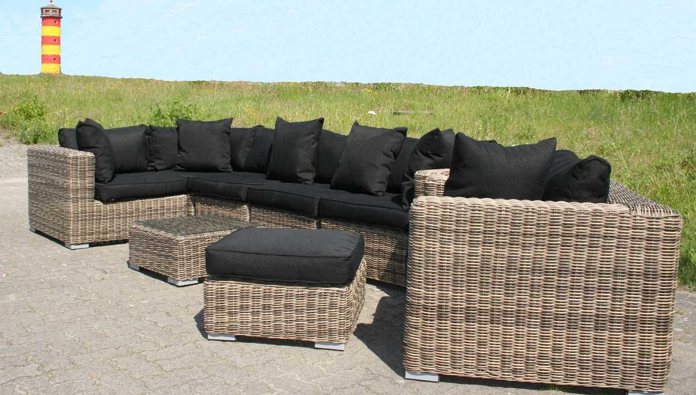 Lounge Terrassenmöbel Hochwertige 4 Teilige Sofa Sitzgarnitur In