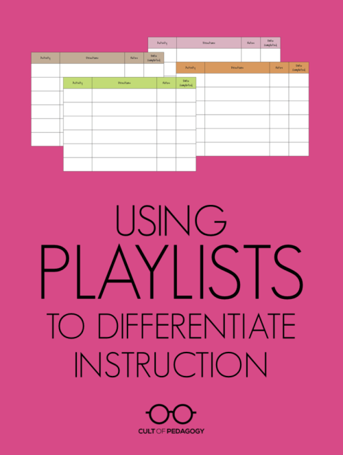 small resolution of Using Playlists to Differentiate Instruction   Cult of Pedagogy